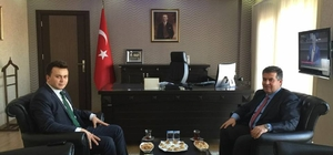 Başkan Erol, Kaymakam Arabacı'yı ziyaret etti