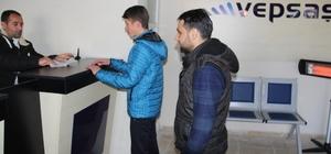 Başkale'deki Vepsaş vezneleri çarşı merkezine taşındı