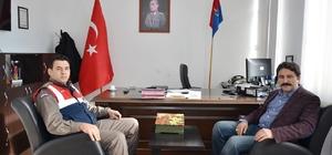 Başkan Kalın'dan İlçe Jandarma Komutanı İmre'ye hayırlı olsun ziyareti