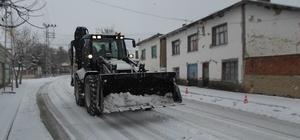 Seyitgazi karla mücadeleye devam ediyor