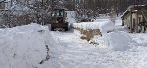 Korkuteli'de karla mücadele çalışmaları