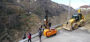 Trabzon Büyükşehir Belediyesi il genelindeki çalışmalarını sürdürüyor