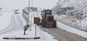 Niksar'da karla mücadele çalışması