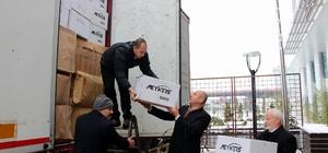 Tekkeköy'den Halep'e 4 tır yardım