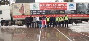 Ankara'dan Halepliler için bir tır yardım malzemesi