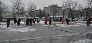 Fatsa Belediyesi karla mücadele çalışmaları