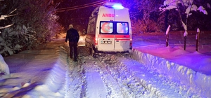 Kar nedeniyle mahsur kalan 93 yaşındaki hasta kurtarıldı