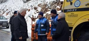 Başkan Gürün Karla Mücadele çalışmalarını yerinde inceledi