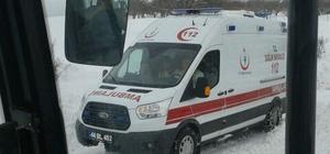 Kar nedeniyle mahsur kalan diyaliz hastası kurtarıldı
