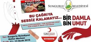 Sungurlu Belediyesi'nden Kan Bağışı Kampanyası