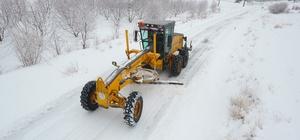 Denizli Büyükşehir, 13 ilçede karla mücadele ediyor