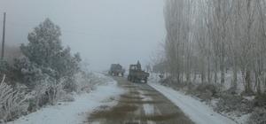 Alaşehir'de kar eğitime engel olmadı