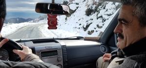 Başkan Alıcık, karla kaplı yolları aşarak açılış yaptı