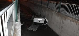 Kayseri'de otomobil kanala düştü: 1 yaralı