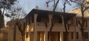 Şanlıurfa'da tarihi binada yangın