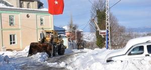 Kırsalda kar temizliği sürüyor