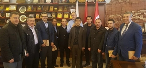 AK Parti belde başkanları Ünver'i ziyaret etti