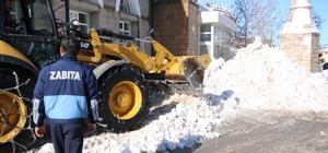 Beyşehir Belediyesi'nin kar mesaisi durmuyor