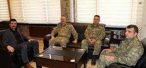 20. Zırhlı Tugay Komutanı İsmail Hakkı Köseali'den Kaymakam Yosunkaya'yı ziyaret