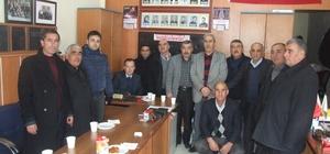 Yerköy İlçe Emniyet Müdürü Yaşar Mumcu, Muhtarlar Derneğini ziyaret etti