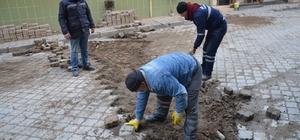 Belediye ekipleri düzenleme çalışmalarına başladı