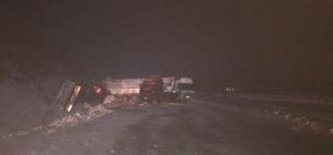 Biga'da zincirleme kaza; 1 yaralı