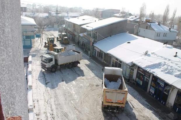 Tutak belediyesi kar temizleme çalışmalarına başladı
