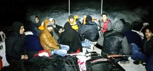 Didim'de 16 kaçak göçmen yakalandı