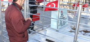 Şehit Halisdemir'in kabrine ziyaretler sürüyor