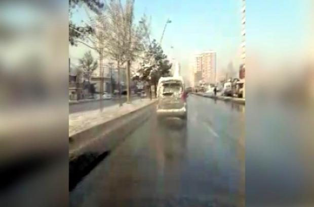 Kayseri'de Trafikte Tehlikeli Görüntü