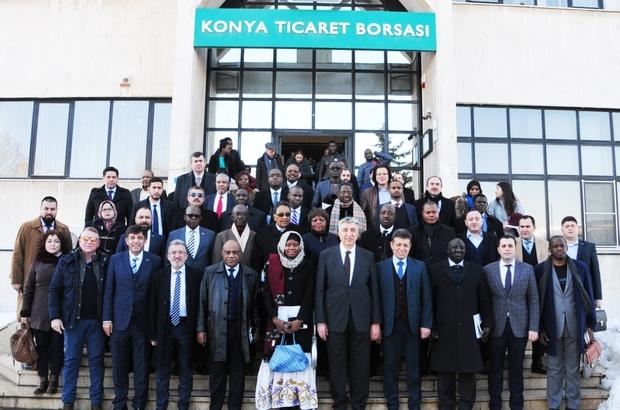 Afrika Büyükelçileri Konya Ticaret Borsası'nı ziyaret etti
