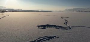 Erçek Gölü buz tuttu