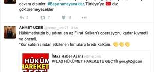 """AK Parti'li Uzer: """"Kur saldırısında etkilenen firmalara kredi kalkanı, Fırat Kalkanı kadar önemli"""""""