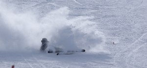 Hesarek Kayak Merkezine yoğun ilgi