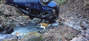 Trabzon'da otomobil dereye yuvarlandı: 1 ölü, 2 yaralı
