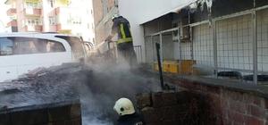 Malatya'da kömürlük yangını