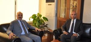 Emniyet Müdürü Şahne'den ESOB Başkanı Dinçer'e ziyaret