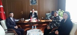 Hastane yöneticilerinden, Kaymakam Kılınç'a ziyaret