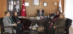 Türk Kadınlar Birliği Erzurum Şubesi, Rektör Çomaklı'yı ziyaret etti