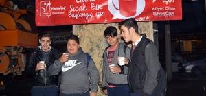 Manavgat Belediyesi'nden sıcak çorba ikramı