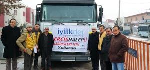 Erciş'ten Suriye'ye yardımlar devam ediyor