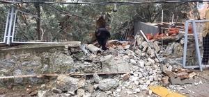 Marmaris'te dev kayalar  yerleşim alanına düştü