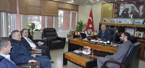 Gevye Belediye Başkanı Kaya'dan Başkan Yaman'a ziyaret