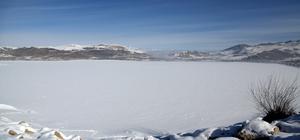 Van'daki Sıhke Gölü dondu