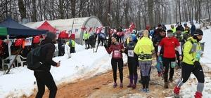 Sporcular, 7'nci Çekmeköy Uluslararası Ultra Kış Maratonu'nda yarıştı