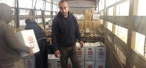 Yardım TIR'ları Suriye'ye ulaştı