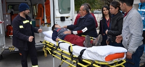 Milas'ta yola fırlayan çocuk yaralandı