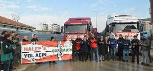 Çorum'dan Halep'e 5 TIR yardım