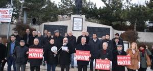 Yozgat'ta 'Başkanlığa Hayır' eylemi yapıldı