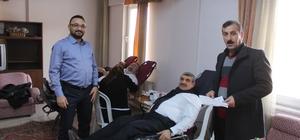 Şeker fabrikası çalışanları kan bağışında bulundu